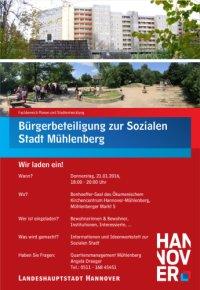 Soziale Stadt: Informationsveranstaltung des Quartiersmanagements in Mühlenberg