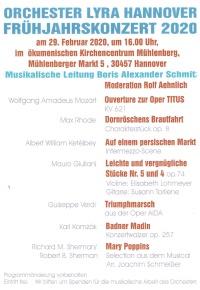 Frühjahrskonzert des Orchester Lyra Hannover